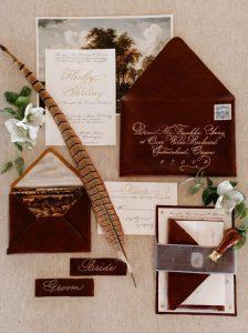 convites de casamento outono