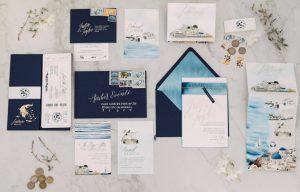 convites de casamento Classic Blue